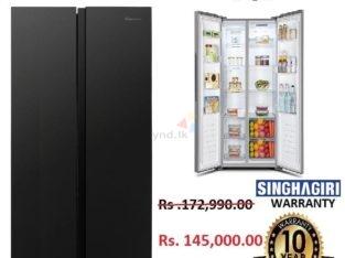 Hisense Refrigerator ( 428L, BLACK)