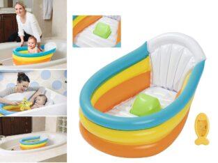 Multi Colour Inflatable Baby Bathtub
