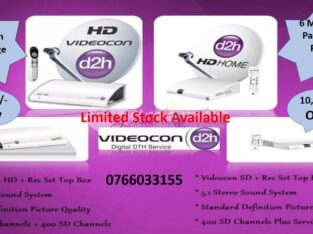Videocon D2h HD New Connection With 6Mth Free