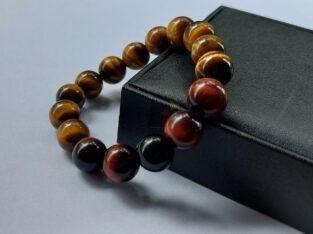 Tiger-eye Om Mantra Bracelet