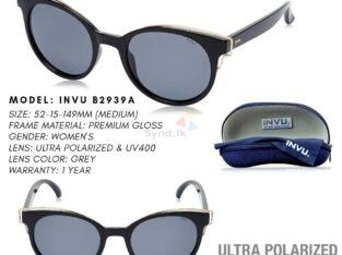 INVU Polarized Round Women's Sunglasses