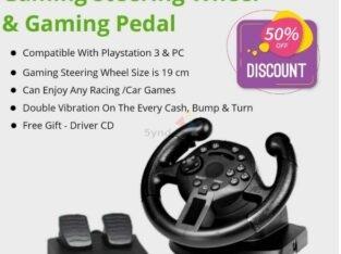 Gaming Steering Wheel & Gaming Pedal