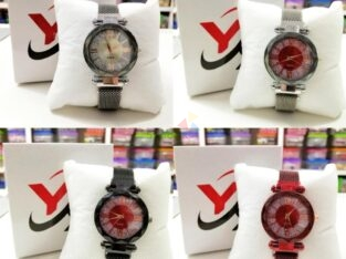 Ladies Magnet Watch With Box New Collection
