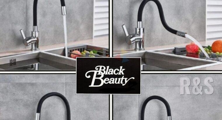 Matte Black Kitchen Flexible Taps And Mixer