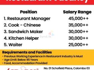 Job Vacancy : Acropol Restaurant