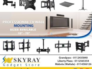 LED LCD Adjustable DOUBLE ARM TV Wall Bracket Sri Lanka 10″-70″