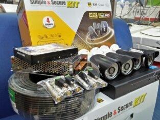 4ch CCTV camera full kit
