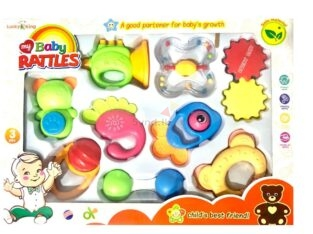 Rattle Baby Toys Soft Rubber