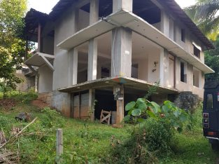 LAND WITH PARTLY BUILT HOUSE FOR SALE IN YAKGAHAPITIYA LEWELLA