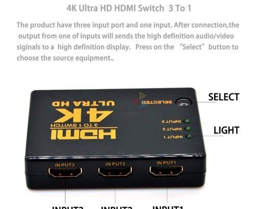 3 Way HDMI Switch
