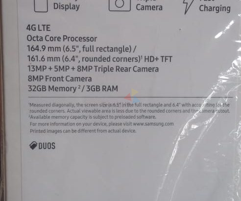 Samsung Galaxy A20s Used